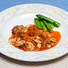 チキンのグリル 野菜のトマトソース