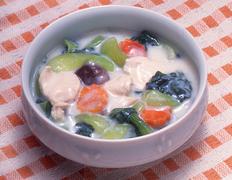 第6回  野菜不足の人にぴったり  青梗菜と鶏肉のクリーム煮