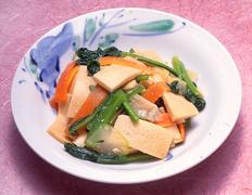 第7回  小松菜がおいしい季節に  凍り豆腐と小松菜のみそ炒め