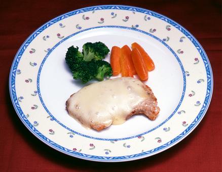豚肉のソテーチーズ焼き