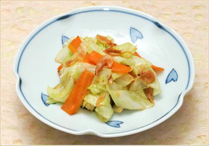 キャベツと桜えびの生姜炒め