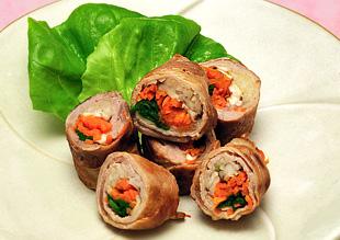豚肉の野菜巻き焼き
