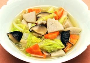 白菜と里芋の薄くず煮