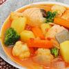 鮭とどっさり野菜のシチュー