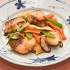 鯛と春野菜の豆板醤炒め