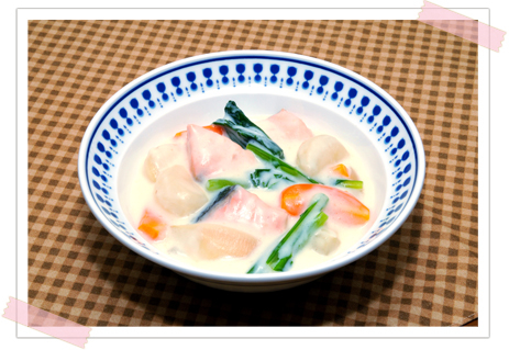 生鮭のクリーム煮