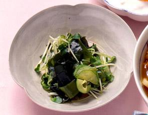 貝割菜とわかめの酢の物