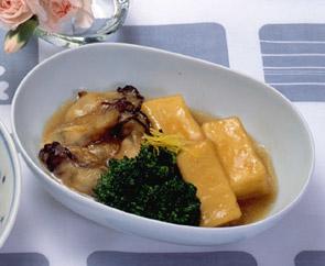 凍り豆腐とかきの揚げ煮