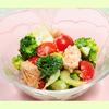 鮭とブロッコリーのサラダ