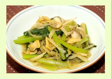 切り干し大根と小松菜の炒め煮