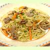 牛肉と野菜のスパゲッティ