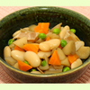 白いんげん豆と根菜の煮物