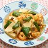 豆腐とエビの炒め煮