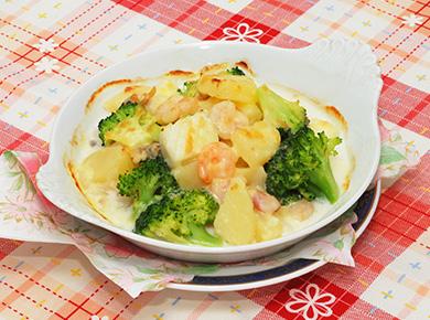 シーフード・ポテト・ブロッコリーのチーズ焼き