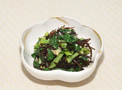 小松菜とひじきの香味和え