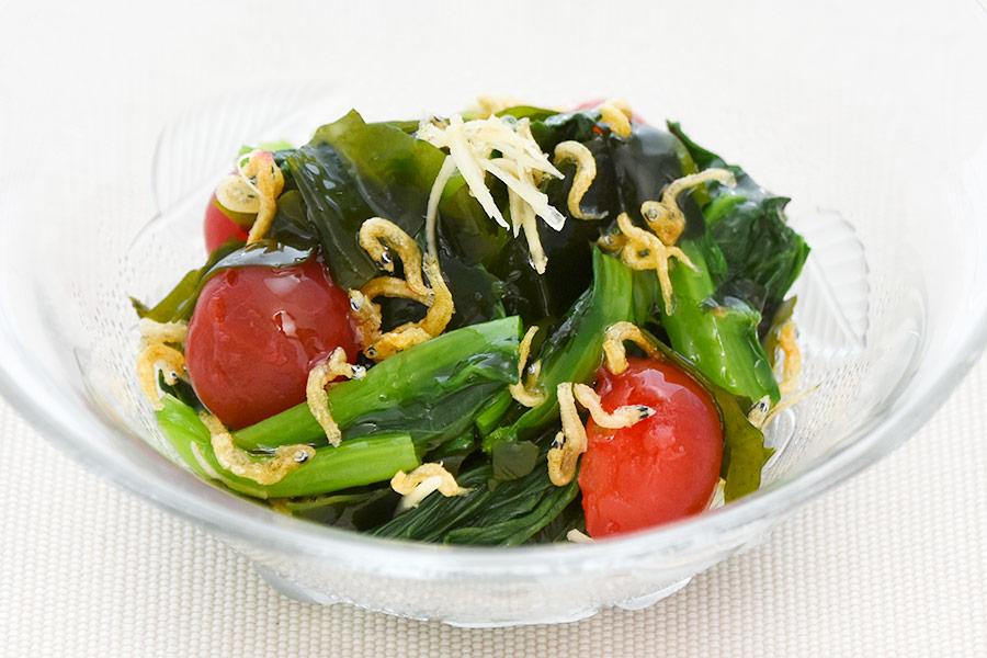 小松菜のじゃこサラダ
