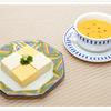 野菜のポタージュと金銀豆腐