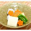 豆腐と里芋の練りみそかけ