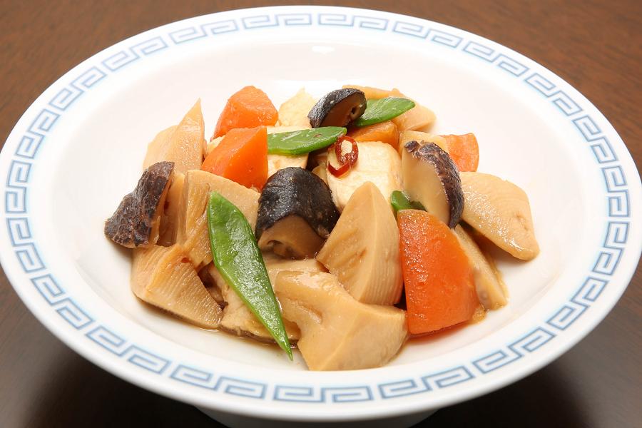 たけのことかじきの中華風炒め煮