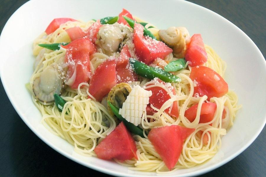 たっぷりトマトの冷製スパゲッティ