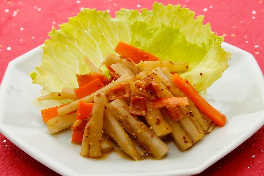たたきごぼうのサラダ