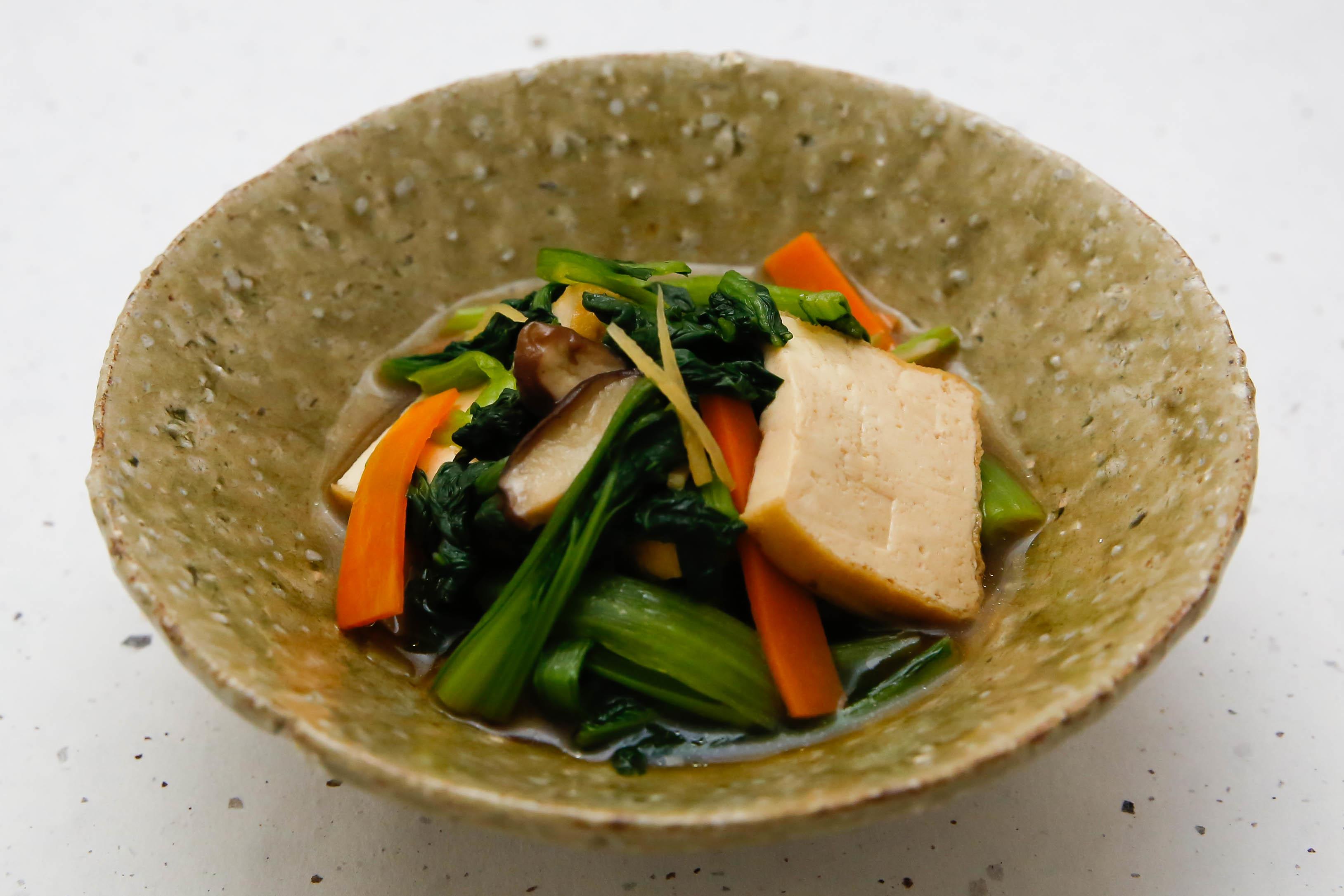 小松菜と生揚げの炒め煮