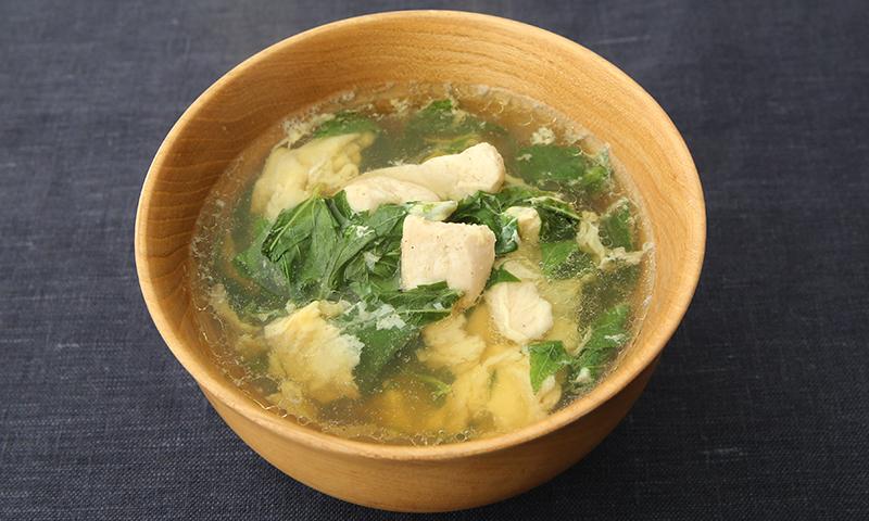 モロヘイヤささみスープ
